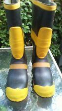 """Ranger FireMaster Firefighter Turnout Gear 14"""" Rubber Boots Steel Toe Sz 10 EUC"""