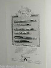 1929 Swan Pen advertisement, Fountain Pens, London