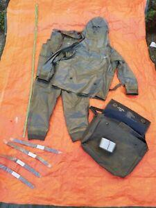ABC Schutzanzug Zodiak Zodiac Gr.II Gummianzug 2-teilig Hazmat Suit Green