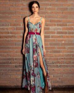 Patbo Floral Maxi Dress Peony Print Size AUS10