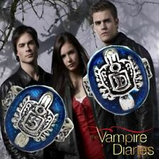 The Vampire Diaries 'Damon/Stefan Salvatore Crest' Antique Silver Daylight Ring