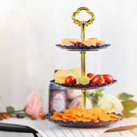 AM_ Portable Three Layer Fruit Plate Cake Candy Dessert Storage Stand Rack Holde
