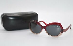 New $198 Coach Red Sand Gradient HC 8177 Sunglasses w/Case Vintage Style