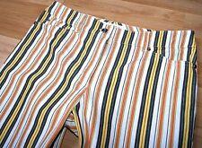 ESCADA Damen Hose Gr. 36 + 38 STRETCH STREIFEN- Muster mehrfarbig lange Beine