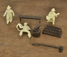 Vintage Lot 1951-53 Marx Plastic Western Ranch Set Cowboys & Accessories