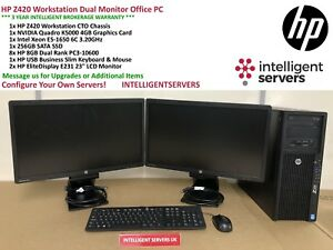 HP Z420 Workstation Intel E5-1650 3.2GHz 64GB 256GB SATA SSD Nvidia K5000