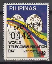 Specimen, Philippines Sc1410 World Telecommunications Day