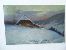 Ansichtskarte Frohe Weihnachten 1913 Winter im Schwarzwald (Reis)