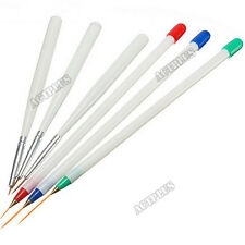 6PCS Acrylic French Nail Art Pen Brush Set Painting Drawing Liner Tools NEW