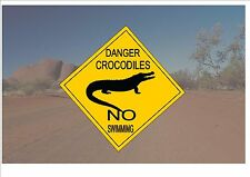 Australian Style Road Sign Australia Road Sign Novelty Fun Crocodile outback