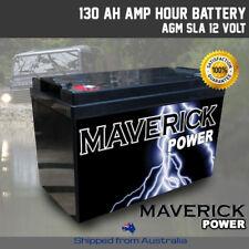 2x 130a Recharge Power AGM Battery 12 Volt 12v Deep Cycle Dual Fridge Solar 260a