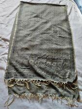 Retro Men's Silk Thin Scarf Grey 20 x 76 inches Paisley & Floral Mod