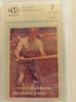 1957 Richie Ashburn Card 1957 Topps #70 Philadelphia Phillies BGS BCCG 7. Ab247