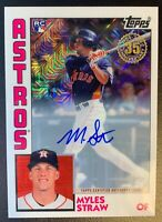 2019 Topps '84 Silver Pack MYLES STRAW Autograph Rookie Mojo Refractor SP /149