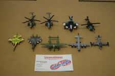 Vintage Galoob Micro Machines Lot Of 9 Jet Airplanes Helicopters Apache P-38