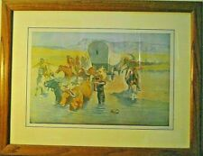 Fredric Remington's Print of 1904 Collier's Weekly Framed and Matted Art    5-A