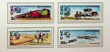 BOTSWANA 1974 CENTENARY OF UPU RAILWAY, CAMEL, AIRPLANE, FOOT 4v MINT STAMPS