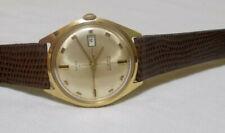 Timex 21 calendar men's waterproof watch gold color 6544 7569 near mint cond