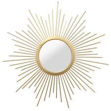 Metal Gold Sunburst Mirror Hanging Interior Wall Art Home Decor