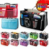 Women Ladys Travel Insert Handbag Organiser Purse Large Liner Organizer Tidy Bag