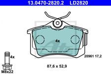 Ceramic Bremsbelagsatz, Scheibenbremse Hinterachse ATE 13.0470-2820.2
