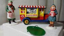 Dept 56 Heritage Village Accessory Popcorn Vendor Set of 3 #5958-7