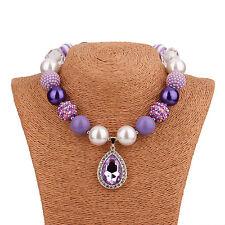 Acrylic Chunky Beads Bubblegum Gumball Jewlery Pendant Christmas Necklace 111