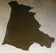 (NGE8920) Hide of Dark Green Brown Cow Leather Hide Skin