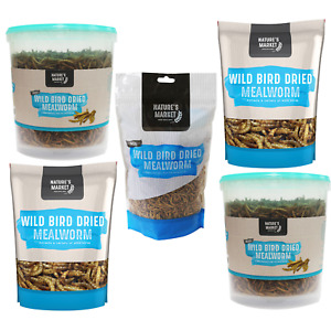 Wild Bird Feed - Quality Dried Mealworm - pack sizes 80 - 100 - 400 - 500g & 1kg