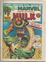 Hulk #65 : Vintage Marvel comic book : December 1973