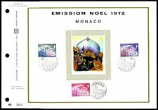 Monaco CEF 1972 Noël CHRISTMAS X-MAS NOEL Navidad Only 5.250 MADE!!! zf62