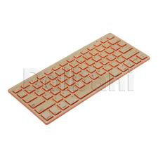 New Wireless Bamboo Keyboard QWERTY US Orange Desktop Laptop PC Mac