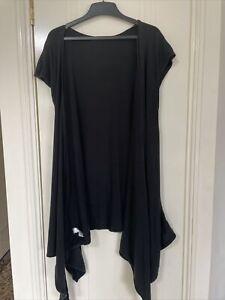 Intimo Modal Short Cap Sleeve Wrap Long Black Size 14