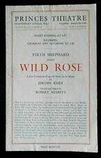 Wild Rose programme Princes Theatre 1940s Winifred Davis Richard Hearne