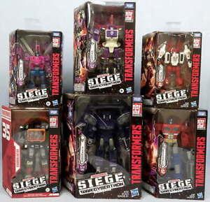 Lot 6 Transformers War For Cybertron Siege Figures Optimus Prime Shockwave NEW