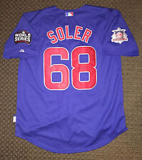 Jorge Soler SIGNED 2016 Chicago Cubs WORLD SERIES Jersey Autographed