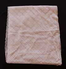 """VINTAGE 1950'S FRENCH DEADSTOCK PINK SILK & METALLIC LACE FABRIC 4 YDS X 34"""" W"""