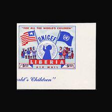 Liberia, Sc #C77, Imperf, MH, 1954, Flags, UNICEF, Children, 231LS/S
