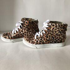 Michael Kors CHANTEL Bootie Leopard Print Ankle Boots Sneaker Shoes US 5