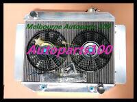 Aluminum Radiator & fans for TORANA LJ LH LX UC 4CYL & 6CYL 1969-1978 AUTO MT