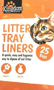 Kitty Cat Kitten Litter Tray Liners with Ties 25 Bags