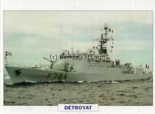 1976 Détroyat Type A69 Corvette Frigate Ship / Warship Photograph Maxi Card