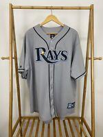 VTG Wil Myers #9 Tampa Bay Rays Stitched Majestic Baseball MLB Jersey Sz 2X USA