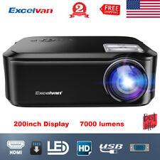 "New listing 1080P Led Projector Hdmi Vga Usb Multimedia Interfaces 7000 Lumens 200"" Display"