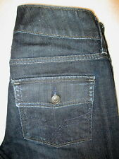 Gap Curvy Boot Stretch Flap Pockets Womens Blue Denim Jeans Size 2 R x 31