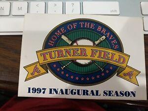 BRAVES ATLANTA TURNER FIELD INAUGURAL SEASON 1997 MLB BASEBALL Sticker