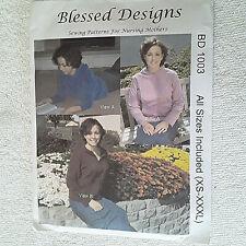 Blessed Designs 1003 Hoodie w nursing opening for Nursing Mothers Sz xs-xxxl   #