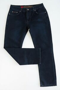 DSQUARED2 Mens Jeans Size 33 Medium Blue Mid Rise Straight Leg RRP $370 EUC