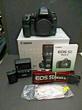 Canon EOS 5D Mark II camera body with strap,charger, battery, book very clean