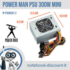 POWER MAN Power Supply 300W PSU IP-P300CN7-2 Mini ITX Alimentatore 20+4-pin SATA